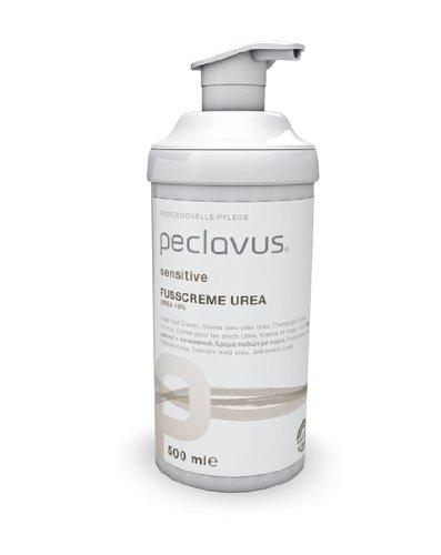Peclavus Sensitive Fußcreme Urea 10{f0b6223f3a7972aeae278278557d1d778e5a5241669c02400c9cf404c5f9010d}, Fußpflege, sofortige Hilfe bei trockener Haut, 500 ml