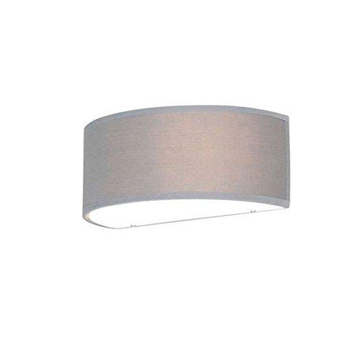 QAZQA Modern Wandleuchte Drum mit Schirm 30 halbrund grau/Innenbeleuchtung/Wohnzimmerlampe/Schlafzimmer/Küche Glas/Textil Rund/Kugel/Kugelförmig/Länglich LED geeignet E27 Max. 1 x 40 Watt