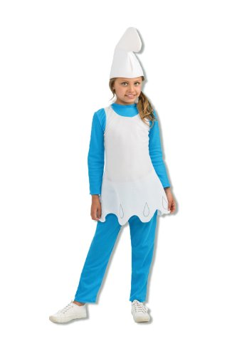 Schlumpfine Kinderkostüm M (Schlumpfine Baby Kostüme)