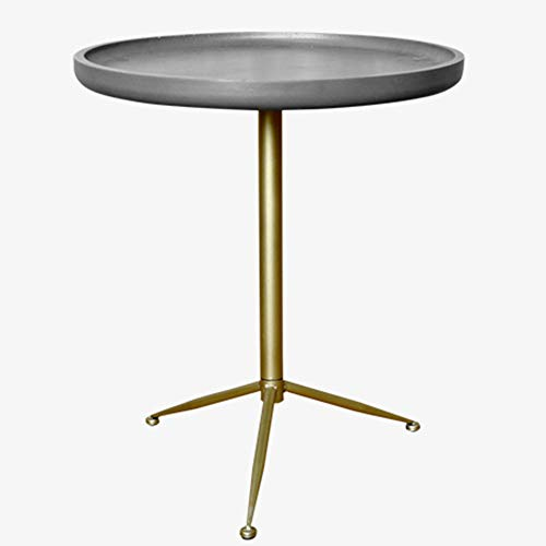 ZZHF La table de nuit Table d'appoint, renfort semblable au ciment Table d'appoint stable Salon Petit canapé rond Table d'appoint petite table ronde Chambre à coucher multifonction avec table de cheve