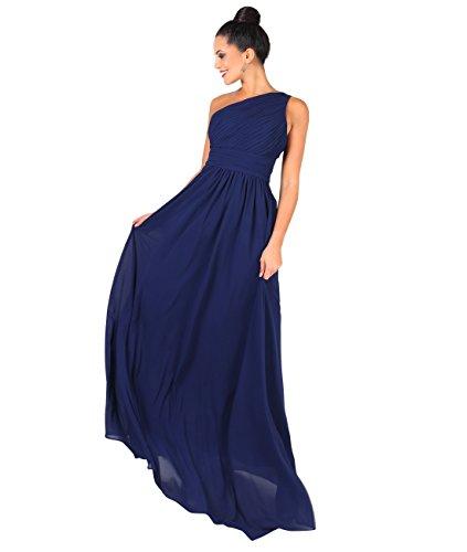 KRISP Damen Elegante Einträgerkleider Chiffon Abendkleid Brautjungfernkleider - Abendkleider lang