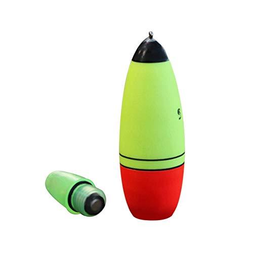 CHOULI LED leuchtende Fischen-Hin- und Herbewegung Boia-Schaum-Art Stock-Bojen-Nachtfischen-Werkzeuge grün u. Rot