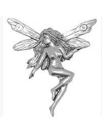 En caja de regalo Metal Pin broche con forma de gorro de peltre Dance Fairie diseño de hada con texto en inglés
