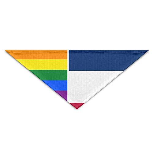 Schwester Thor's Kostüm - Jugoslawien Flag Gay Pride Dog Bandanas Schals Dreieck Lätzchen Schals Funny Basic Dogs Halstuch Cat Collars