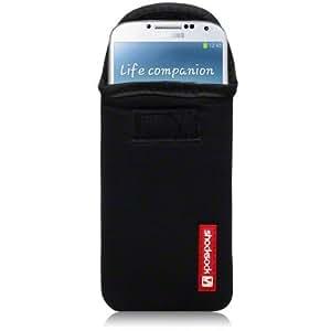 SAMSUNG i9500 GALAXY S4 SHOCKSOCKS NEOPREN TASCHE IN SCHWARZ
