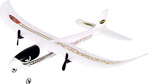Carson 500505031 500505031-Airshot 470 2.4G RTF, Ferngesteuerte Flugmodelle, Modell, RC Flugzeug, inkl. Batterien und Fernsteuerung, 100{2aba5046fa29731440bb9738edb27013f25006e22ecb8897a3981c1988f49c05} flugfertig, weiß