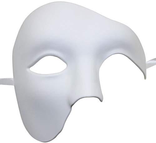 VAWAA Maske Für Partei Halbes Gesicht Phantom Der Oper Maske Maske Maske Radelische Maske Für Männer