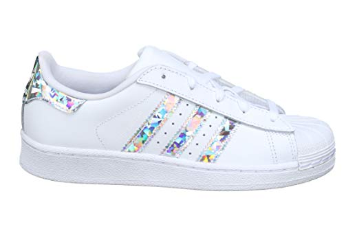 hot sale online 8108e ab895 adidas Unisex Kids  Superstar C Fitness Shoes, White (Blanco 000), 10.5