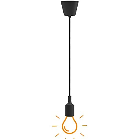 Black Ceiling Hanging Pendant Light Fixture in Colorful DIY E27 Pendant Lamp Holder Cord Collection (Soffitto Cavo)