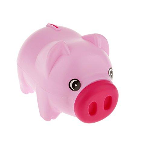 Niedliche Plastiktier Sparschwein Geldmünze Geldkasten Kinder Kinder Rosa