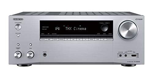 Vision Audio-home-theater-systeme (Onkyo TX-NR696(S) 7.2 Kanal AV Receiver (THX Kinoklang, Dolby/DTS:X, WLAN, Bluetooth, Streaming, Musik Apps, Spotify, Deezer, Radio, Multiroom, 175 W/Kanal) Silber)