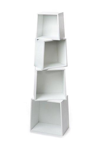 Tomasucci Rocket Set Quattro Cubi, MDF, Bianco
