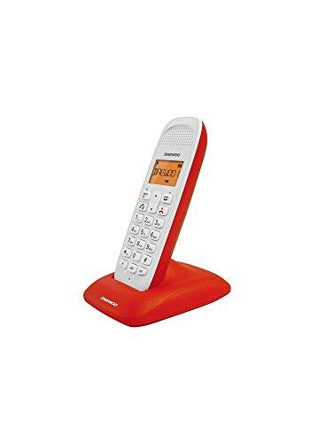 Daewoo DAE31DTD1300R - Teléfono DECT (manos libres) color rojo