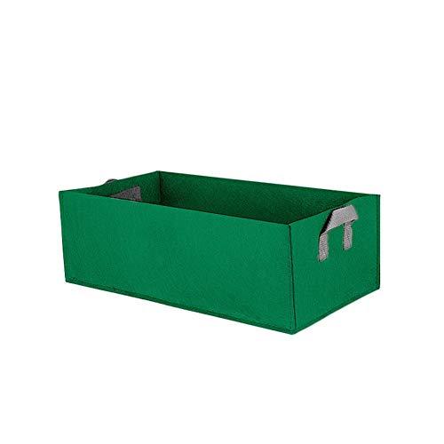 Sac de plantation Rectangle Pots en tissu d'aération non tissés avec poignées Jardin Sacs de culture Jardinières Pochette Racine Conteneur pour plantes Pot de culture pour légumes