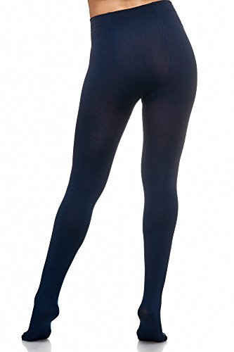 JillyMode Thermo Leggings Strumpfhose Warm mit Fleece Modelle B-Marine