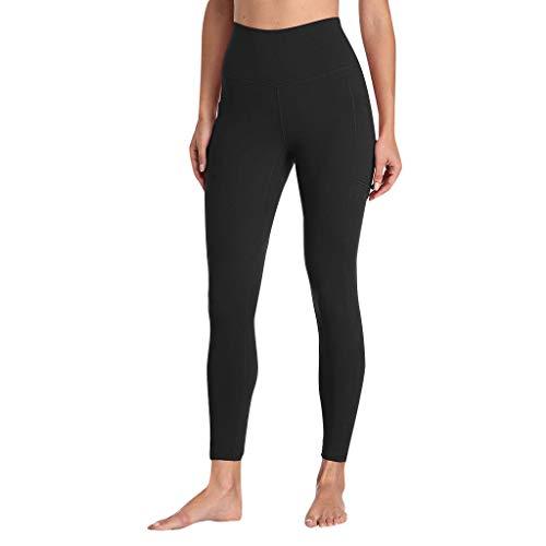 Länge Athletische Socken Schwarz (ABsoar Damen Yoga Athletische Hosen Frauen Trainieren Gamaschen mit Taschen Eignungs Fitness der Laufen Lässt Sporthosen)