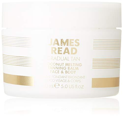James read balsamo morbido autoabbronzante al cocco per viso e corpo 150ml leggero medio latte idratante e idratante graduale, idratante e nutriente, della durata fino a 5 giorni, tutte le carnagioni