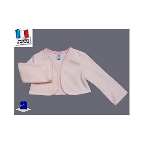 Poussin bleu - Boléro baptême, cérémonie polaire 1 mois-10 ans Made In  France 882a1b783d4