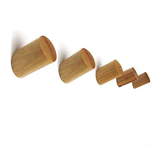 Muxitrade gancio appendiabiti in legno, confezione da 5 pz montaggio a parete vestiti sciarpa cappello e borsa portaoggetti appendini asciugamano cremagliera decorazione camera da letto