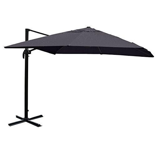 Gastronomie-Luxus-Ampelschirm Sonnenschirm N22, Ø 4,30 m ~ anthrazit ohne Ständer, drehbar