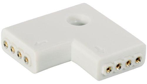 Transmedia - Adaptador angular (2 unidades para tiras LED compatible con LBZ20...