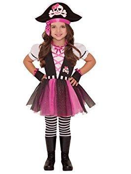 Disfraz de pirata presumida para niñas en varias tallas