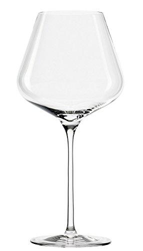 Copas de Vino Tinto de Borgoña Quatrophil de Stölzle Lausitz, 708 ml, set de 6, copas voluptuosas, vidrio soplado, aptas para el lavavajillas