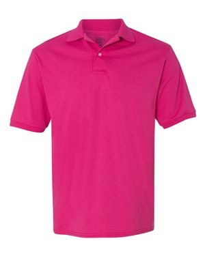 Adult 5.6 oz., SpotShield� Jersey Polo CYBER PINK S (Jersey Jerzees Adult Polo)