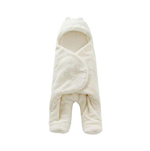 GCCLCF Baby Polyester, Neugeborenes Kapuzenschlafsack Unabhängiges Bein Baby Eishockey Tuch Herbst Winter Mädchen Jungen Paket,White