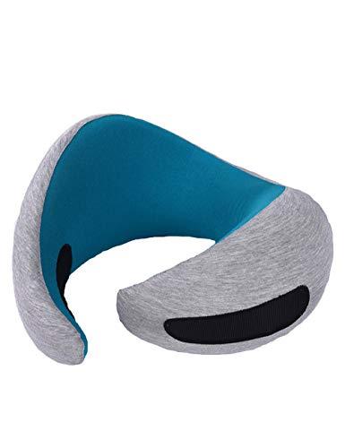 LHHJP111 Gedächtnis-Baumwollreisekissen, Ultra-beweglich, justierbar, einfach zu Reisen, Beste Reise, Ohrenstöpsel mit Aufbewahrungstaschen-Schutzbrillen, verwendbar für Flugzeuge, Züge, Autos -