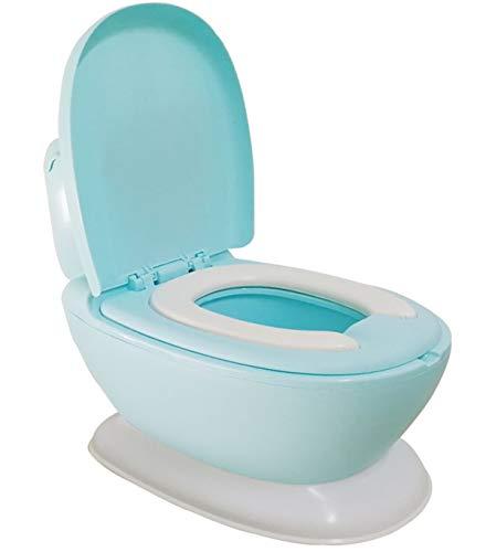 Glenmore Vasino Water Mini Forma di WC per Bambini Bambino Lavandino Bimbo Gabinetto Bimbi con Suono di Sciacquone Blu