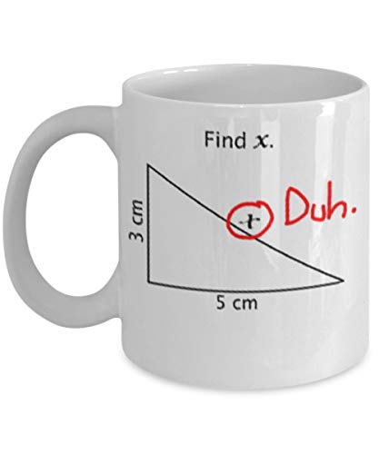 Funny Math Mug - Find X Duh Mug - 11-oz Find X Math Problem Mug Cup - Engineer Coffee Mug - Software Algebra Mug Gift - Math Geek Gift - Funny Math Gift