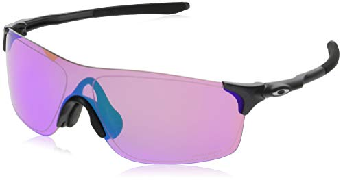 Oakley Men's Evzero Pitch (a) Non-Polarized Iridium Rectangular Sunglasses, Steel, 38 mm