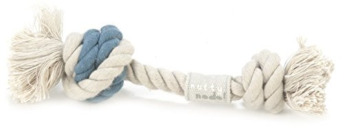 Beeztees Nutty Nodo Flossy 2 Nodi giocattolo della corda, blu / grigio, 50 g