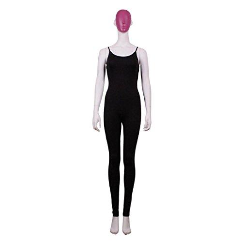 Ouneed® Élégante Simple Tight-raccord Rompers Combinaison Uni Jumpsuit d'une Seule Pièce Short Salopette Femmes Bretelles Tops + Pantalon Combinaison Noir