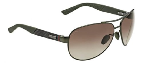 Gucci-Mens-2246-Green-Carbon-Green-Rubber-FrameBrown-Gradient-Polarized-Lens-Metal-Sunglasses