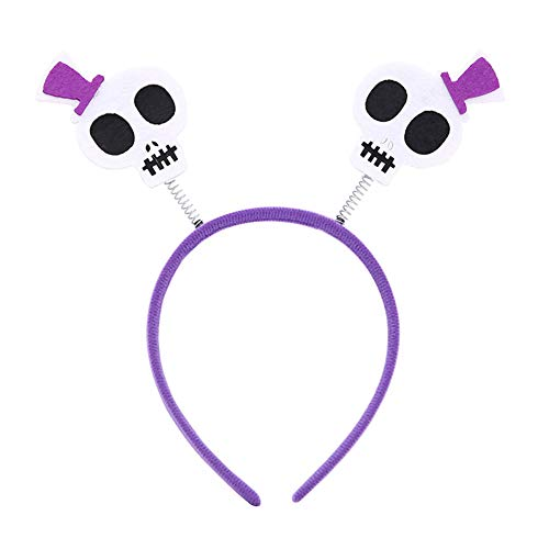 Fledermaus Totenkopf Stirnband Haarband Halloween Kostüm Party Haar Requisiten Totenkopf ()