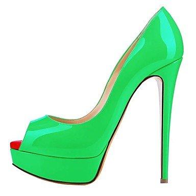 WSX&PLM Da donna-Tacchi-Matrimonio Formale Serata e festa-Cinturino-A stiletto-Vernice-Blu Giallo Verde Rosa Viola Bianco Borgogna Fucsia Nero e ivory