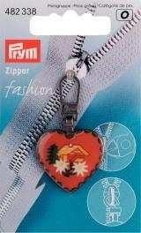 Prym Pferdekopf Zip Abzieher (Pferd Herz Aus Messing)