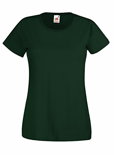 Preisvergleich Produktbild Fruit of the Loom: Lady-Fit Valueweight T 61-372-0, Größe:M (12);Farbe:Bottle Green