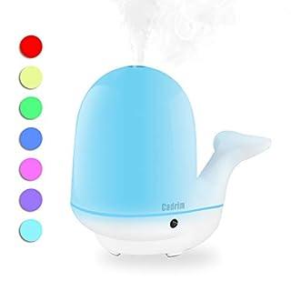 3 IN 1 Ultraschall LED Duftöl Diffusor/Mini Luftbefeuchter/Stimmungslicht, Cadrim Öl Diffuser Luftbefeuchter Raumbefeuchter Aroma Diffuser für Spa, Yogastudio, Kindersraum, Geschenke