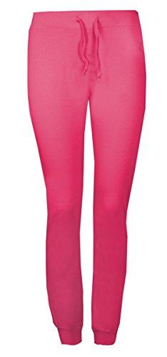 Brody & Co. Damen Hose Weiß Weiß Rosa - Pink