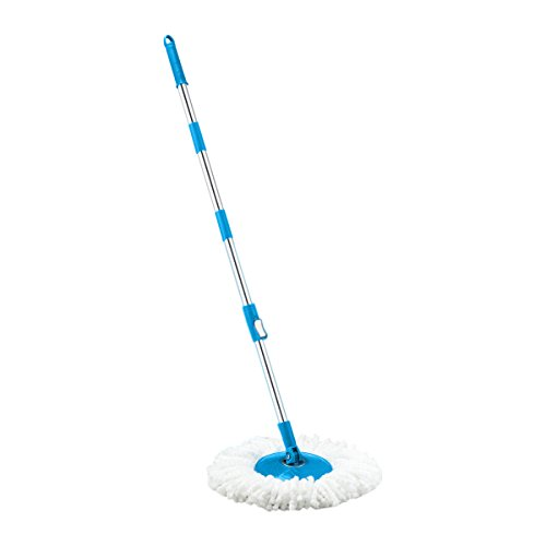 Primeway Magic Spin Mop 3 Section Clip Lock Handle Rod Set with Disc and 1 Refill, Blue  available at amazon for Rs.399