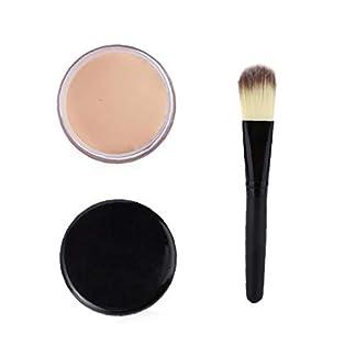 XKJFZ 2 Pcs Maquillaje Corrector Fundación Completo con El Cepillo De La Mujer-pc01 Maquillaje Corrector Foundationfull Cubierta Corrector