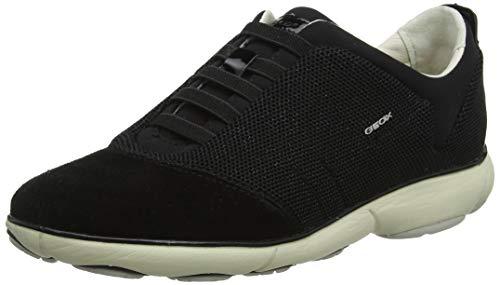 Geox Damen D Nebula C Sneaker, Schwarz (Gun C1357), 42 EU -