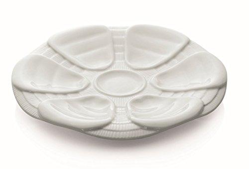 Austernteller Porzellan 25 cm für 6 Austern
