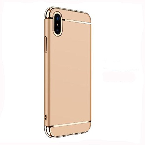 Custodia protettiva per iPhone X, copertura per iPhone X, custodia protettiva per iPhone X con custodia protettiva antiurto Gelb