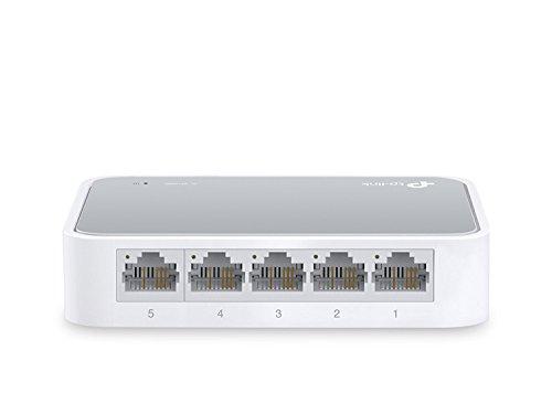 dsl switch TP-Link TL-SF1005D 5-Port Fast Ethernet-/Netzwerk-/Lan Switch (10/100Mbit/s, automatische Geschwindigkeits- und Duplexanpassung, Plug-und-Play, Auto-MDI/MDIX, lüfterlos) weiß