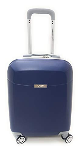 TROLLEY Coveri Collection IDONEO PRIORITY RYANAIR cm.55x40x20 ABS RIGIDO 8 RUOTE (BLU)