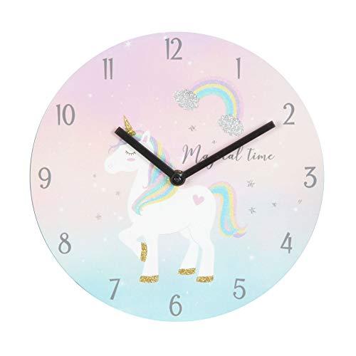 Just4Kids Magische Einhorn-Regenbogen-Kinder-Uhr -, Schlafzimmer, Geschenk